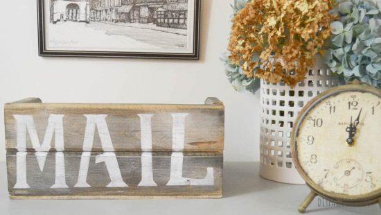 DIY Rustic Wood Mail Sorter