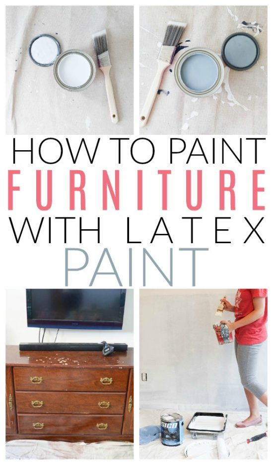 How To Paint Furniture Using Latex Paint