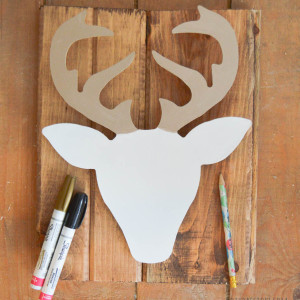 Paint the antlers metallic
