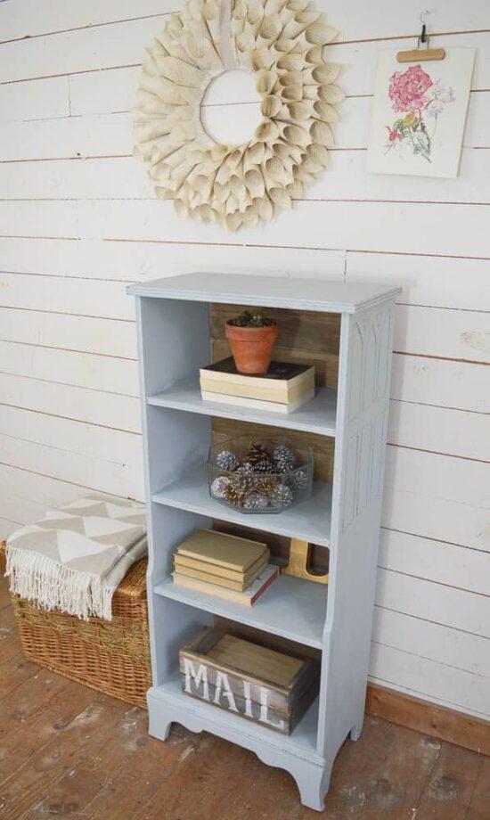 Rustic Driftwood Bookshelf