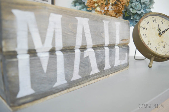 Rustic Mail Sorting Tray