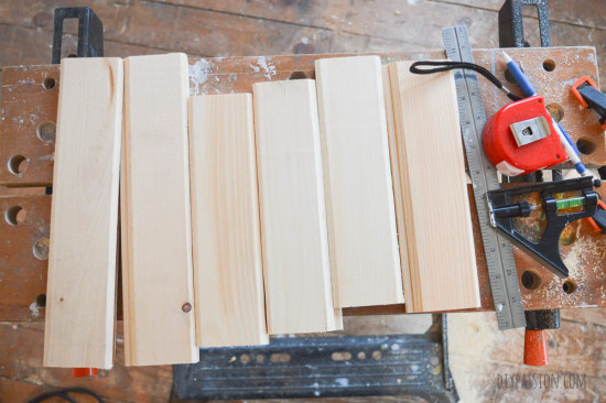 How to use tongue and groove wood to make a mail sorting station