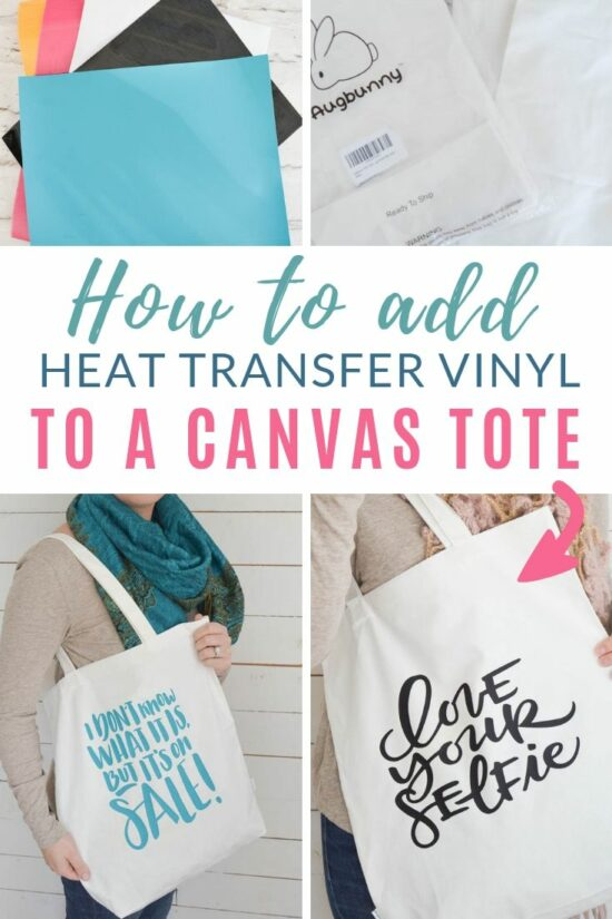 Adding Heat Transfer Vinyl To A Canvas Tote Bag Diy Passion