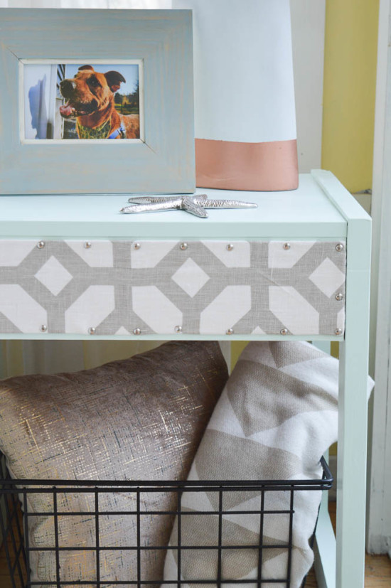 Studded Table with Fabric