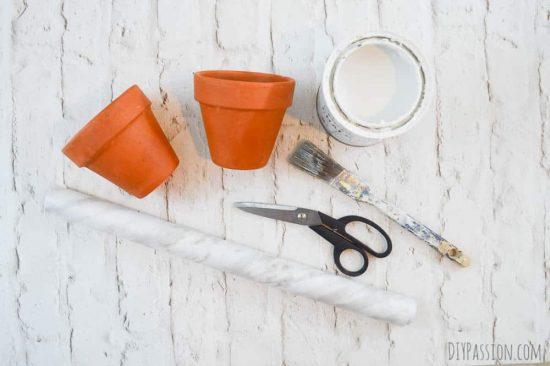 DIY Marble Flower Pot Supplies