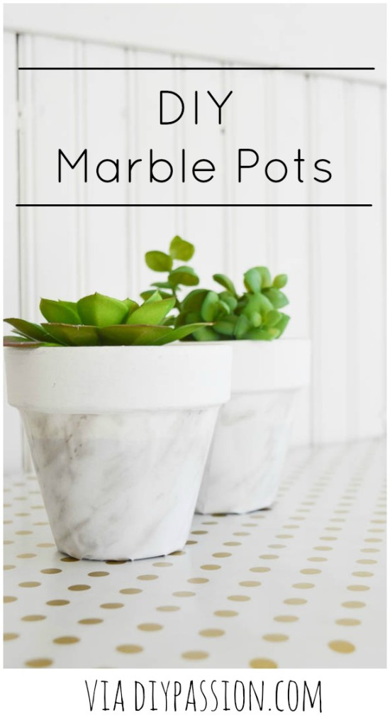 Make your own DIY Marble Pots via DIY Passion