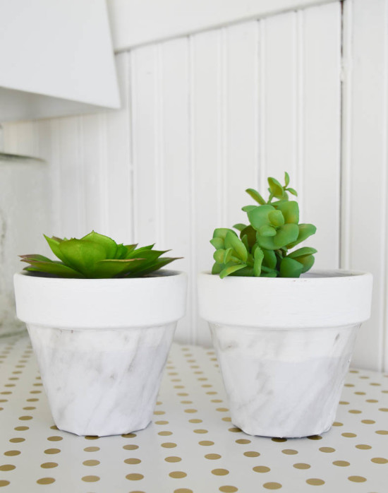 Make your own Marble Succulent Pots