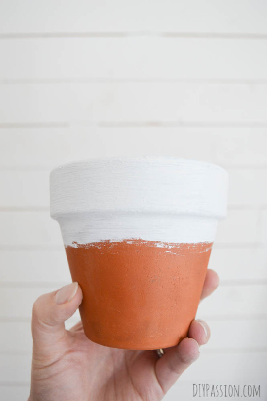 Painted Terra Cotta Pot with Chalk Paint