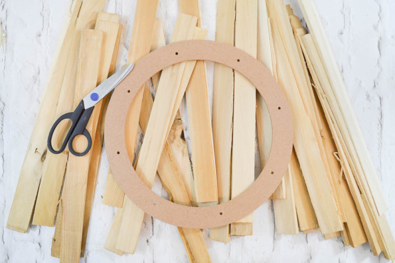 Wood Shim Wreath Supplies