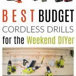 best budget cordless drills