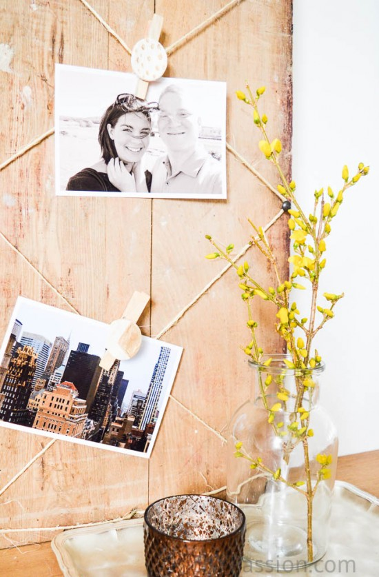 Air Dry Clay Rustic Photo Board