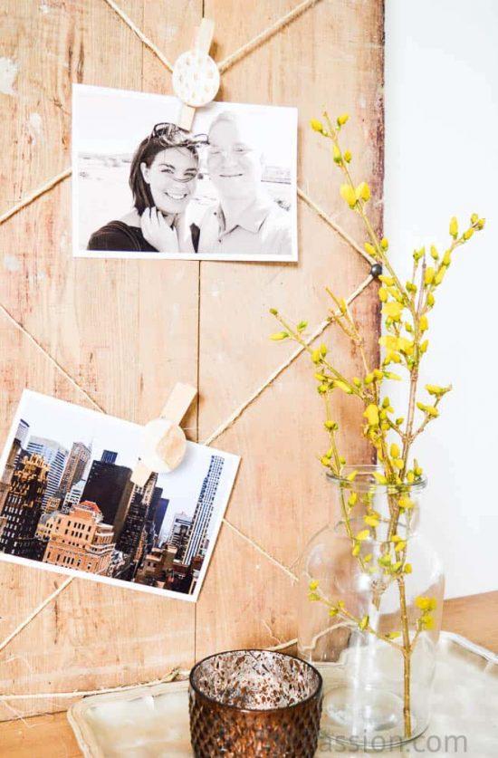 Air Dry Clay Rustic Photo Board