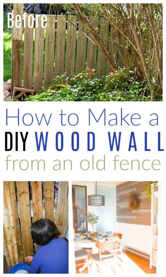 diy wood wall old fence