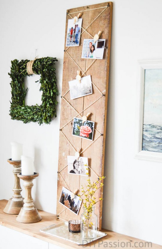 Make a photo display with air dry clay