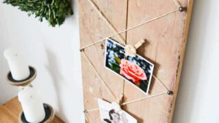 Rustic DIY Photo Display with Air Dry Clay