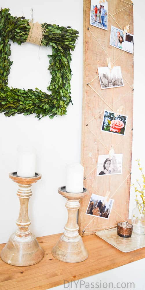 Vintage Rustic Photo Display
