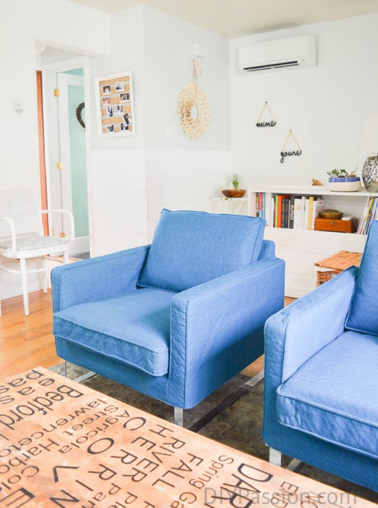 Bright Blue Chairs in Coastal Home