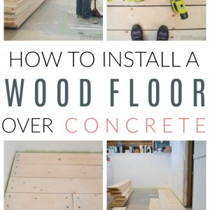 install wood floors on concrete