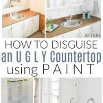 disguise ugly countertop