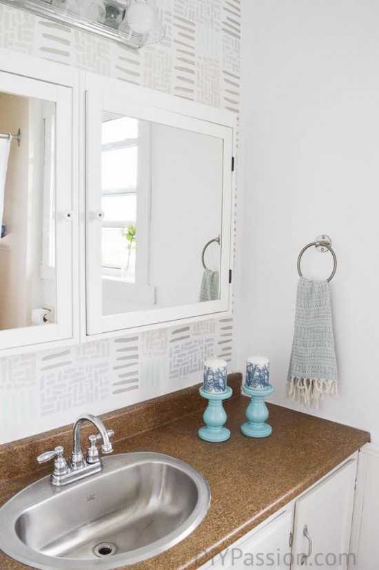 How to update a bathroom with just paint