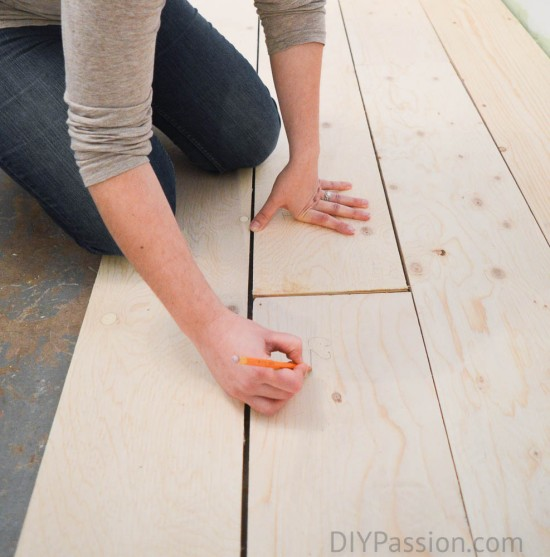 Marking the boards