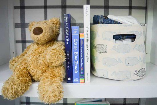 Nautical themed nursery bookcase