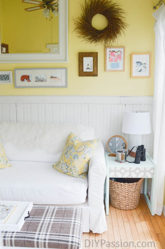 Simple Sunroom with Yellow Details