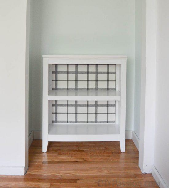 Wall Papered Bookshelf