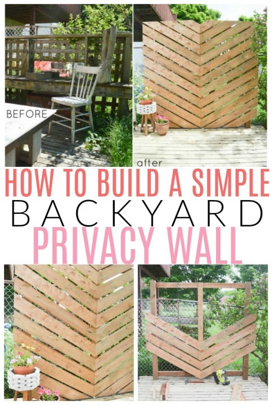 wood privacy wall diy