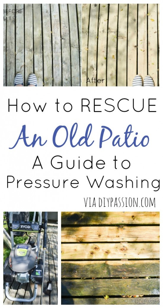 How to Rescue an Old Patio - A Guide to Pressure Washing