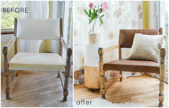 Leather Chair Before and After