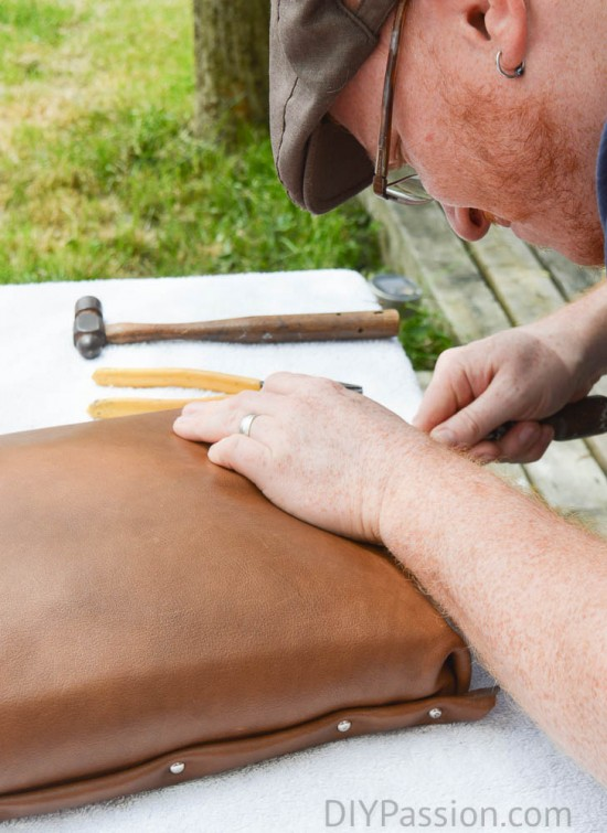 Tools for upholstering with leather
