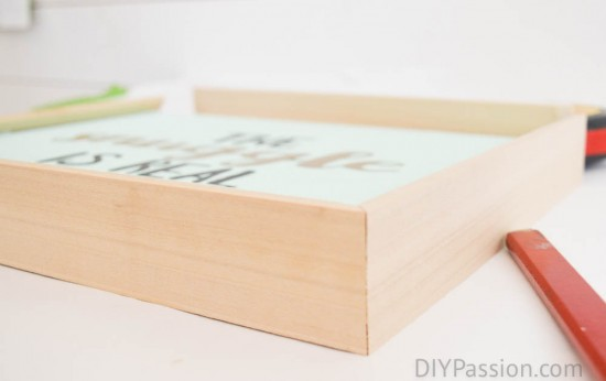 Build a DIY wooden frame for canvas art