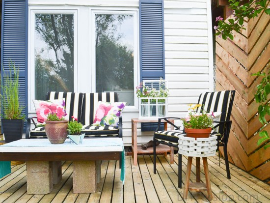 How to DIY a patio nook for less than $300