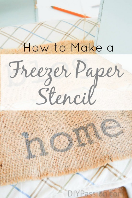 How to make a stencil with a DIY freezer paper template