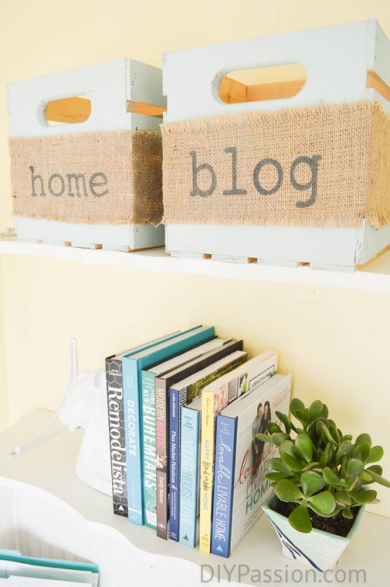 Update storage bins with freezer paper stencils