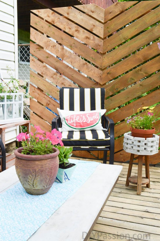 Watermelon Pillow on Patio Set
