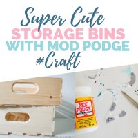 Make your own Custom Numbered Storage Crates with Mod Podge