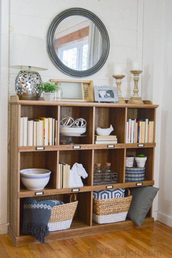cube-shelf-with-modern-farmhouse-decor-how-to-style-a-rustic-bookcase