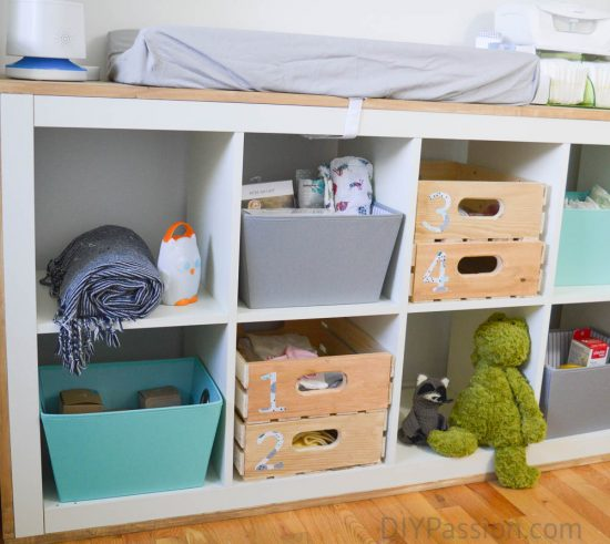 Gender Neutral Nursery Ikea Hack Change Table