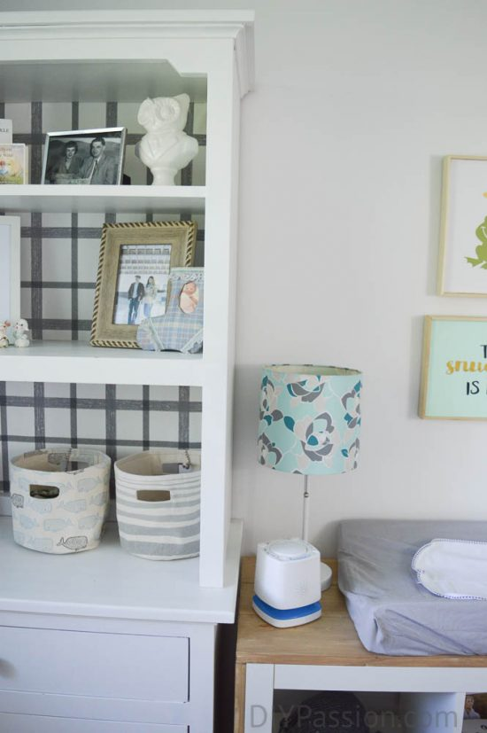 Gender Neutral Nursery with Repurposed Furniture