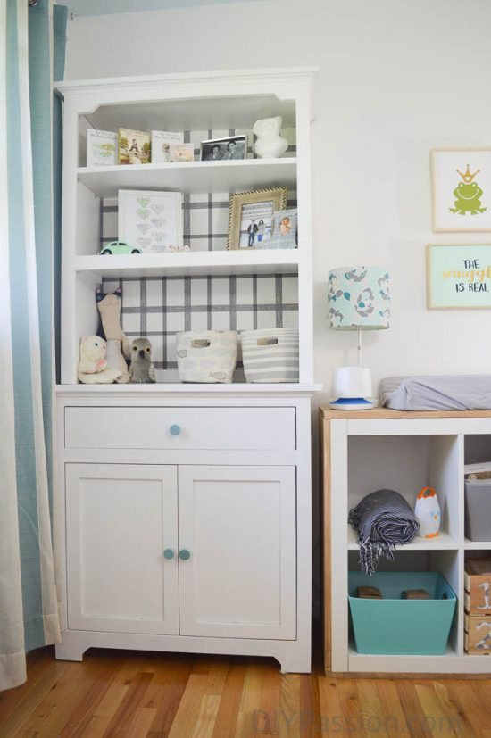 Gender Neutral Nursery with White and Aquas