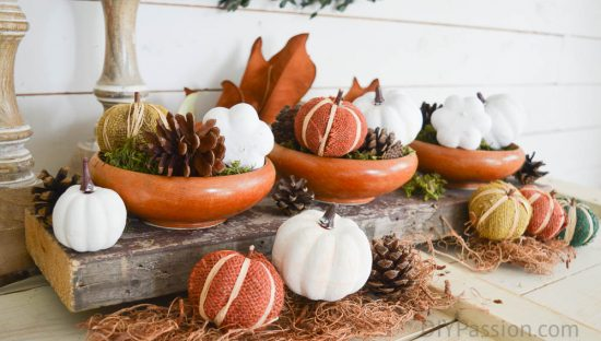 Decorate your table for the holidays with a reclaimed wood centrepiece
