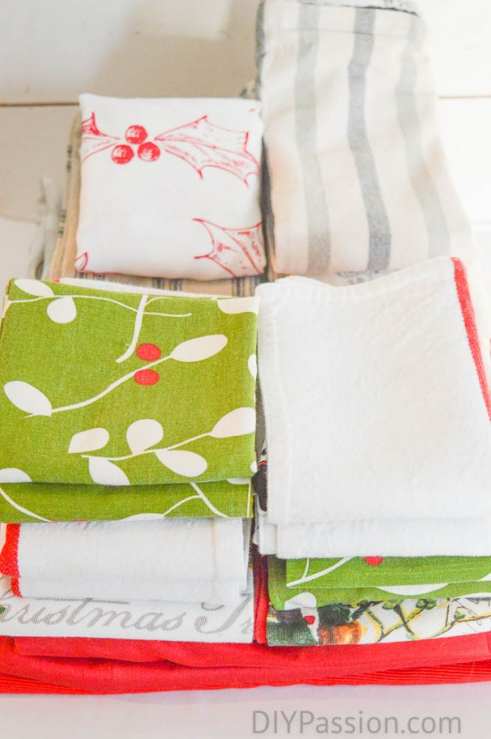 Fold Linens with KonMari to stay organized