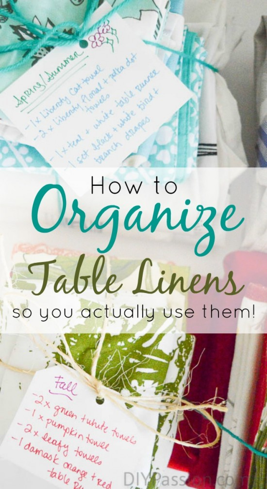 How to Organize Table Linens so you Actually Use Them!