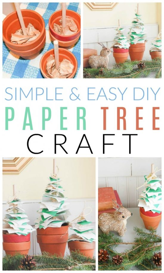 diy paper tree craft