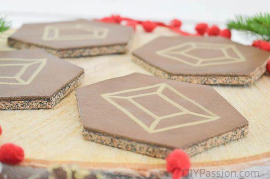 DIY Gemstone Coasters