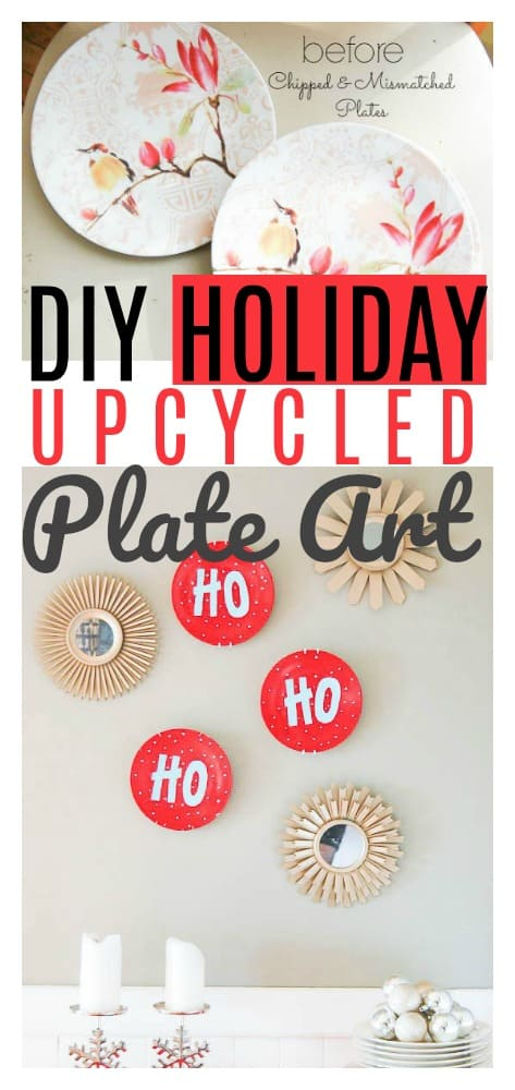 DIY Holiday Upcycled Plate Art