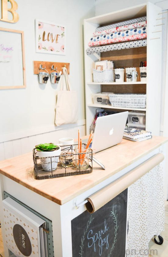 diy-craft-room-space-with-diy-craft-cart