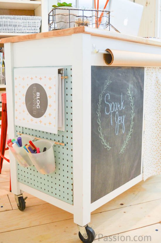 DIY Pegboard Organizer for a Small Craft Room - DIY Passion